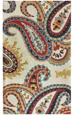 Rugs USA Santa Ana Bold Paisleys Ivory Rug.  Love this rug, I would just need new bedding, but it's so fun for the master!