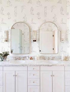 Minimalist Nude Wallpaper Bathroom Renos, Bathroom Interior, Master Bathroom, Bathroom Shop, Bathroom Ideas, Kid Bathrooms, Bathroom Closet, Modern Bathrooms, Dream Bathrooms