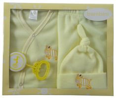 swakidsstore,Bambini 4 Piece Fleece Set - Yellow