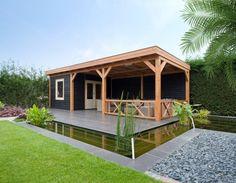 modernes Gartenhaus sie Katzendach #gartenhaus #katzendach #modernes #shedplans Outdoor Pergola, Outdoor Sheds, Outdoor Rooms, Outdoor Living, Pergola Kits, Pergola Ideas, Outdoor Gardens, Gazebo, Backyard Pavilion