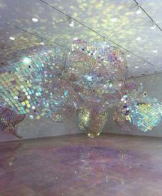 """Soo Sunny Park's """"Unwoven Light"""" - Rice University Art Gallery - Houston, Texas."""