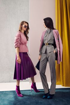 Escada Fall 2018 Ready-to-wear New York Collection - Vogue - I also love this purple leather skirt!!