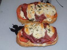 Bruschetta bacon tomate dukan