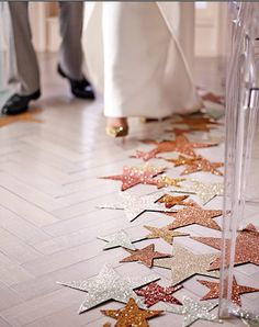 fun alternatives to petals down the isle. Perfect for a glamorous older women and a second marriage.