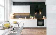 yet another beautiful white scandinavien kitchen by less is more