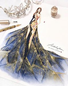 Fashion Illustration Ideas Also framing the croquis with accessories it can be worn with is a great idea Dress Design Drawing, Dress Design Sketches, Fashion Design Sketchbook, Dress Drawing, Fashion Design Drawings, Dress Designs, Vintage Fashion Sketches, Costume Design Sketch, Art Sketchbook