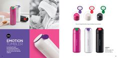Termos stainless Lock n Lock Emotion tumbler series tipe LHC 4114 kapasitas 380ml size: 65 x 206mm, color: Pink, white and black.  Is everything okay today? Is something great happen today? Let your colleagues know your feelings with a hot water bottle with cold Tumbler Lock & Lock Emotion series. Silicon rings available that can be changed to match what you are feeling today.