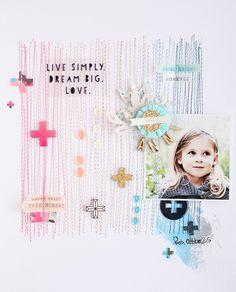"Steffi Ried / Crate Paper ""Shine"" #maggieholmes #cratepaper #scrapbooking"