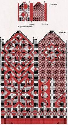 Talk on LiveInternet - Russian Service Online Diaries Knitted Mittens Pattern, Fair Isle Knitting Patterns, Knit Mittens, Knitting Charts, Knitted Gloves, Loom Knitting, Knitting Stitches, Hand Knitting, Norwegian Knitting