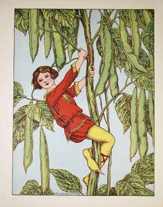 vintage fairy tale illustrations | Vintage 1923 Fairy Tale Illustration Book Plate Print