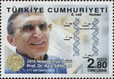 2015 Nobel Prize in Chemistry Prof. Nobel Prize In Chemistry, Nobel Prize Winners, Science, Postage Stamps, Movie Posters, Chemistry, Film Poster, Stamps, Billboard