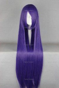 WIG-018S2 Busujima Saeko Highschool of the Dead Cosplay Wig For Convention Blue 100cm 390g