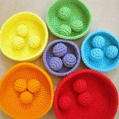 Crochet Pattern: Color Sorting Balls