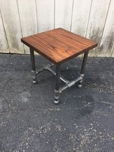 The Perfect Side Table Reclaimed Wood Side Table Rustic Black Pipe Steel Leg Side Sofa Bedside Table with Drawer Option or Shelf Reclaimed Wood Side Table, Rustic Side Table, Salvaged Wood, Wood Table, Reclaimed Lumber, Steel Table, Industrial Side Table, Industrial Lamps, Vintage Side Tables