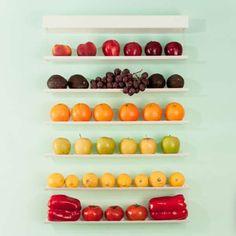 Fruit Wall, paredes decoradas con frutas y vegetales