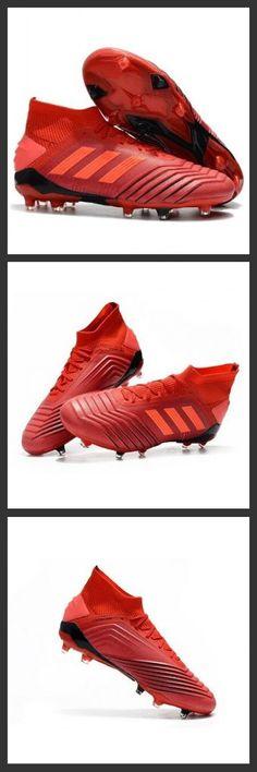 online store 3a485 40a3a Scarpe Da Calcio adidas Predator 19.1 FG Rosso Rosso Solare Nero