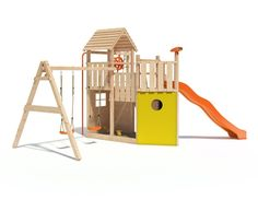 Lovely Kon Tiki Neo Spielturm Kletterturm Baumhaus mit Schaukel Rutsche Kletternetz Rutschstange uvm For ChildrenGarden