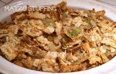 Thanksgiving recipe: Matzo stuffing - http://leahsthoughts.com/8-thanksgiving-dishes-that-never-fail/
