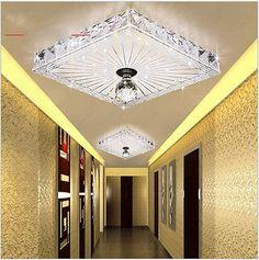 Modern 18cm 12W LED Crystal Ceiling lights chandeliers Aisle/Balcony light w11H