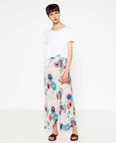 Image 1 of WRAP PRINTED SKIRT from Zara