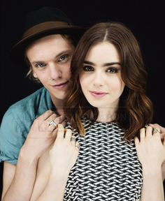 Jamie Campbell and Lily Collins