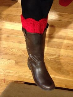 Scalloped Edge Boot Cuffs by whileyousleep on Etsy, $15.00