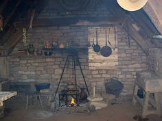 MEDIEVAL COTTAGE LIFE - Now when I am talking about medieval houses here, I am not talking about the big stately homes occupied by wealthy land barons or nobility, I'm talking about the small peasant workers cottages you still find renovated in many small villages around the UK.