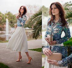 Ecugo Blouse, Asos Skirt, Zara Pumps, Koton Clutch, Asos Rings - GONE WITH THE WIND - Viktoriya Sener