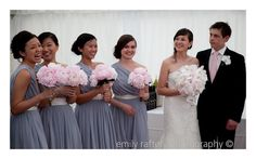 LOVE the bouquets and color combo