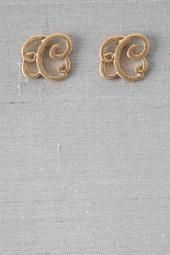 'C' Initial Brush Scroll Stud. www.francescas.com 9.00. Monogramming is back. These sweet studs are very cute, and are selling quick!