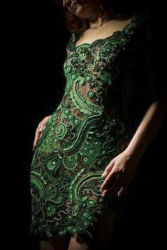 Amazing green lace dress - women inspiration