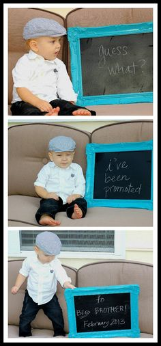 Cutest baby announcement EVER!!!