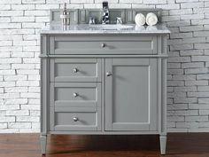 "Brittany 36"" Urban Gray Bathroom Vanity James Martin"