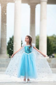 Make your daughter look as cute as the dress in the very beautiful Ice Queen Costume. Shop Ice Queen Dress Online and add the cuteness factor to your little one's style. Girls Fall Dresses, Party Wear Dresses, Baby Girl Dresses, Flower Girl Dresses, Wedding Dresses, Wedding Attire, Pink Princess Dress, Queen Dress, Princess Disney