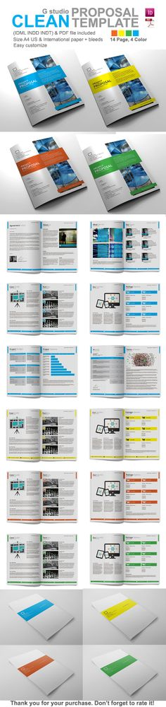 Sleman Clean Proposal Template Proposal templates, Proposals and - purchase proposal templates