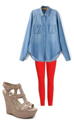 """""""Red Jeans Outfit"""" by lisa-hayes-barnes on Polyvore featuring J Brand"""