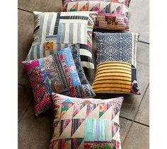 Pauline Boyd Patchwork Hatchling Lumbar Pillow Cover | Pottery Barn