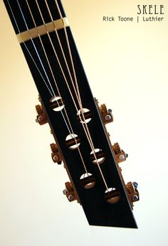 Rick Toone Skele headstock with Waverly tuners
