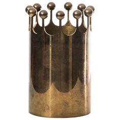 Pierre Forsell Vase in Brass by Skultuna in Sweden 1