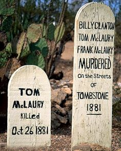 I've visited this graveyard and saw these graves.that was a great piece of History, but the memory made in Tombstone, much sweeter! Cemetery Headstones, Old Cemeteries, Cemetery Art, Graveyards, Famous Tombstones, Into The West, Famous Graves, After Life, Old West
