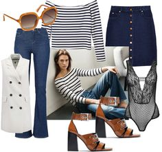 Denim & stripes -70's Style Inspiration.