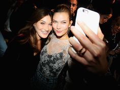 Star Tracks: Saturday, October 1, 2016 | PICTURE PERFECT  | Karlie Kloss cozies up to former French First Lady Carla Bruni for a pre-show selfie during Paris Fashion Week.