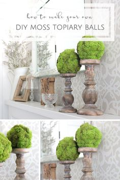 They may have taken just minutes to make, but these pretty DIY moss topiary…