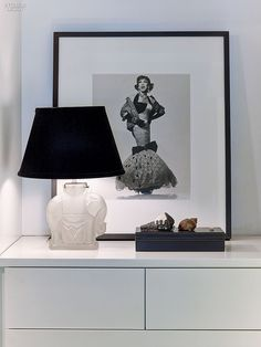 Inside Gensler Creative Director John Bricker's West Village Apartment | Albert Watson's photograph of drag queen Lypsinka once appeared in a Gap ad. #design #interiordesign #interiordesignmagazine #projects #apartments #newyork #nyc @gensleron