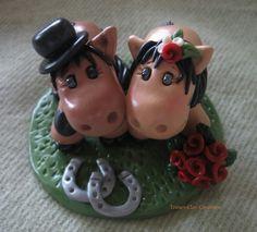 Wedding Cake Topper Horse Animal Pony par trinasclaycreations, $100.00