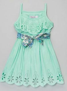 Vestido verde agua
