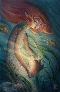 Aquarius - Mermaid Illustration by JoshuaTufts