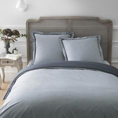 UNI Duvet Set 240x220 in grey/charcoal with 2 pillowcases