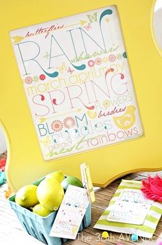 Free Spring Printable overt at http://the36thavenue.com So happy!