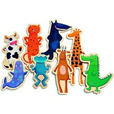 Djeco Crazy Animals Magnetics pc) in Learning & Education. Magnetic Building Blocks, Building Toys, Toddler Toys, Fine Motor, Childcare, Scooby Doo, Puzzle, Fun, Gifts